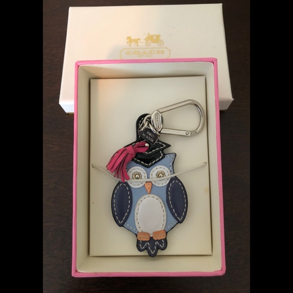 Coach Accessories - *RARE* NWT Coach Graduation Owl Keychain/Fob